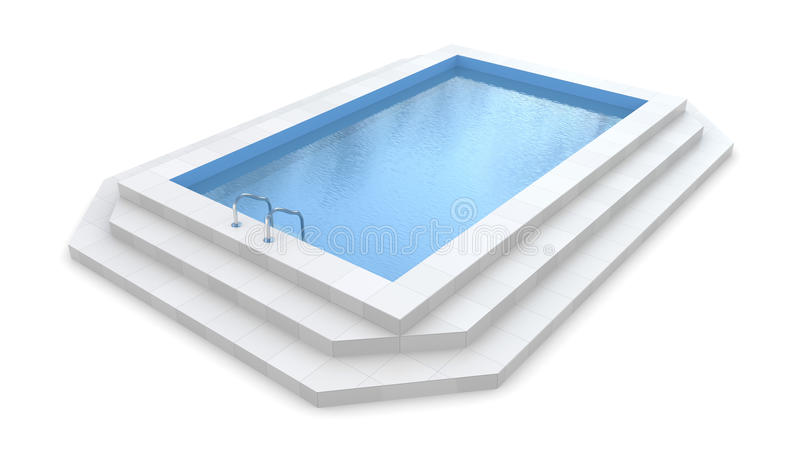 Pool. 3d pool. Isolated on white stock illustration