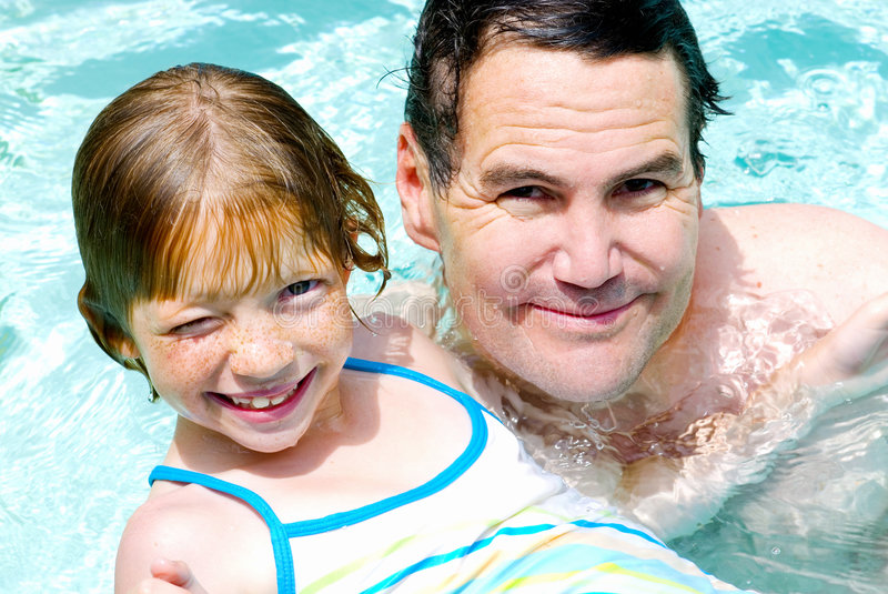 Download In the Pool! stock photo. Image of gaptooth, hair, person - 2821968