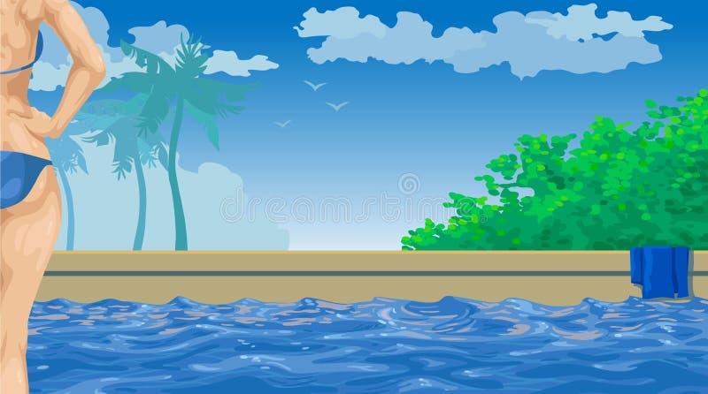 Pool stock illustratie