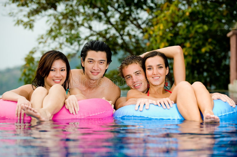 Download In The Pool stock image. Image of poolside, beautiful - 4701497