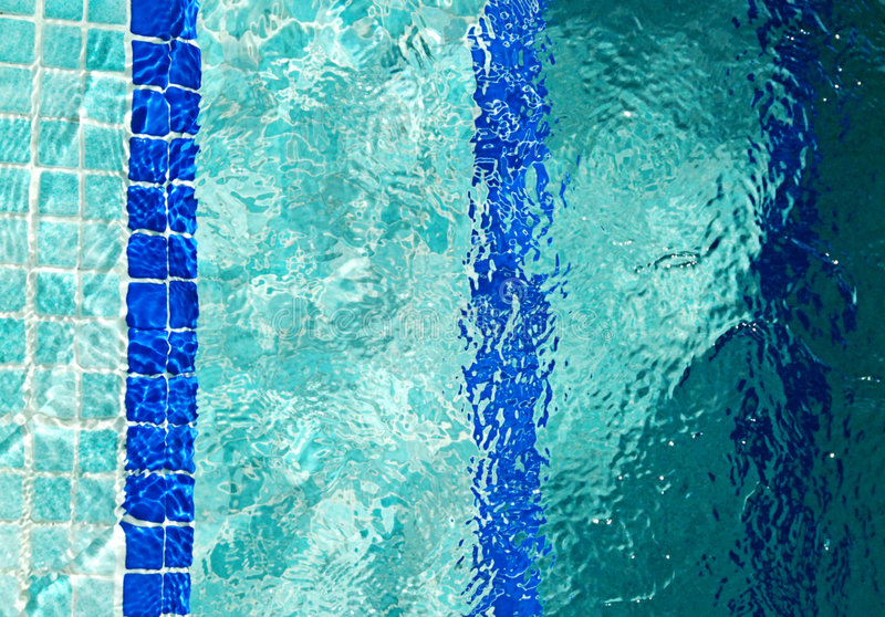 Pool. Steps take you into a world of relaxation in the water royalty free stock photo