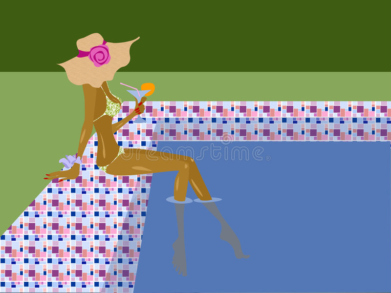Download Pool stock abbildung. Illustration von pool, urlaub, sommer - 866788