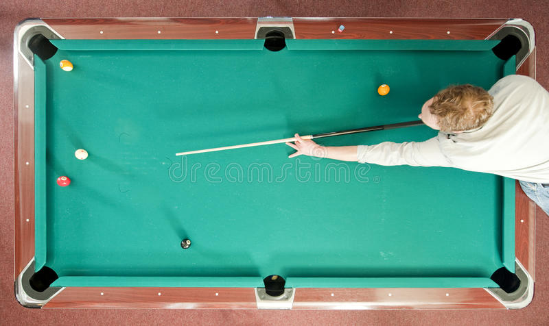 Pool From Above Stock Photography
