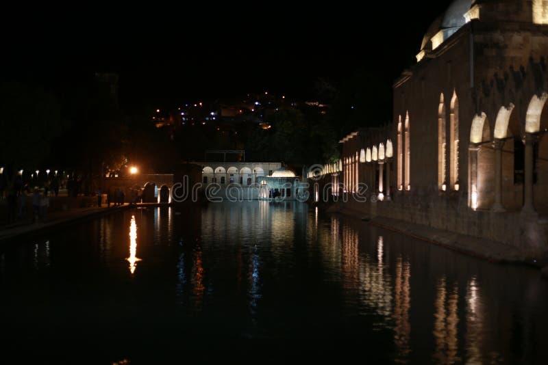 The Pool of Abraham Balikli Gol in Sanliurfa.  royalty free stock photos