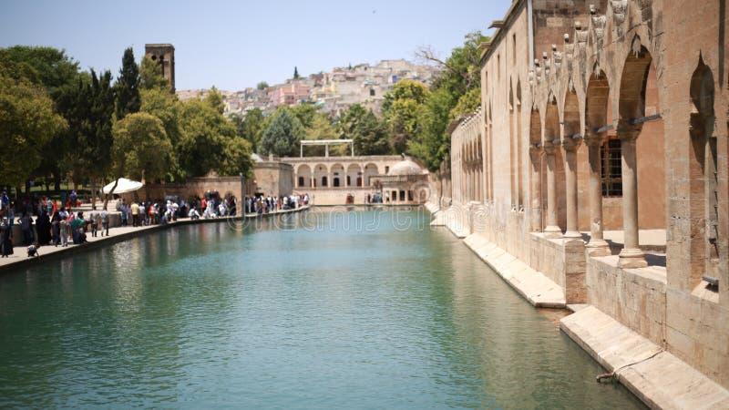 The Pool of Abraham Balikli Gol in Sanliurfa.  royalty free stock image
