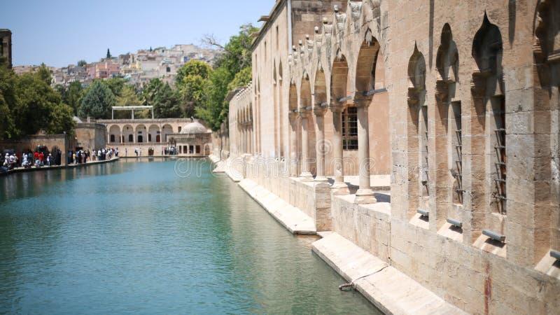 The Pool of Abraham Balikli Gol in Sanliurfa.  stock photos