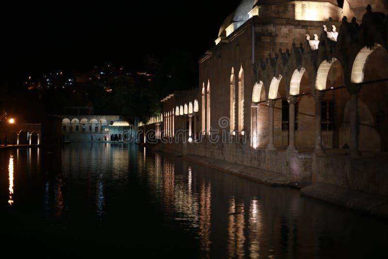 The Pool of Abraham Balikli Gol in Sanliurfa.  stock photography