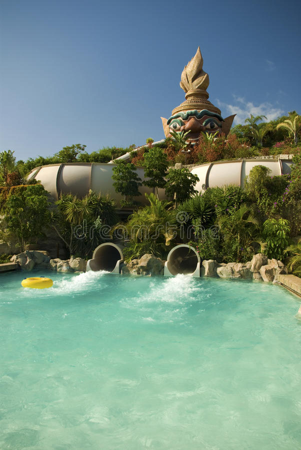 Free Pool And Toboggan In Siam Park, Tenerife Stock Photo - 11858140