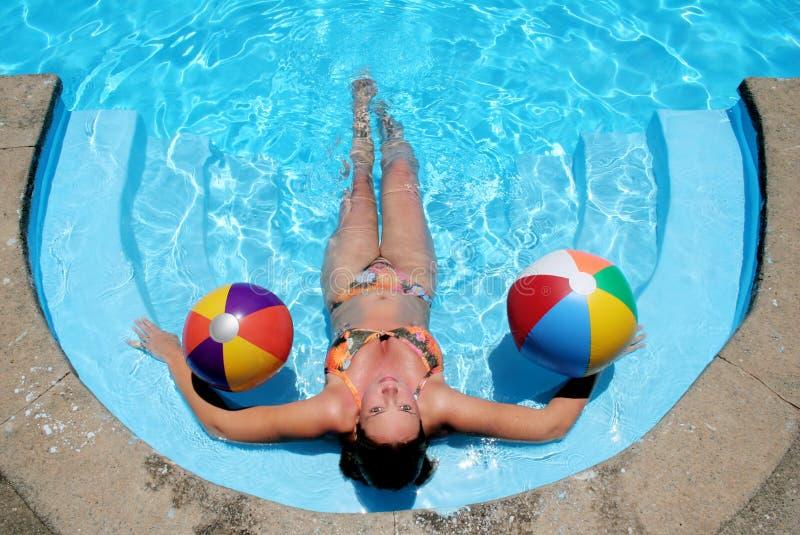 Pool Babe stock foto's