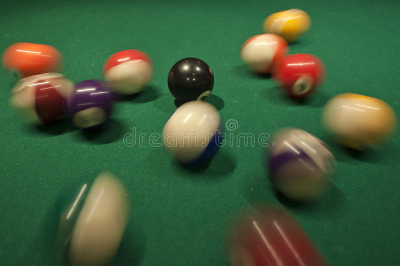 Download Pool Ball Break stock image. Image of sink, closeup, physics - 18060447