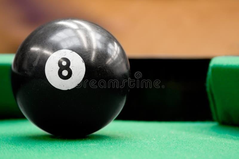 Pool Ball Number Eight stock photos