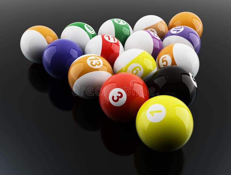 Download Pool balls stock illustration. Image of triangle, stripe - 14525652
