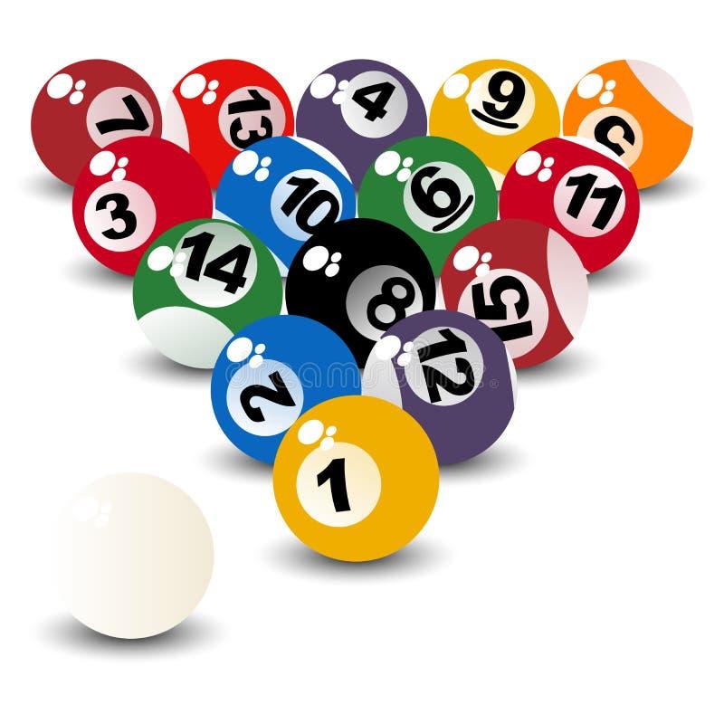 Download Pool balls stock vector. Illustration of round, beginning - 15767630