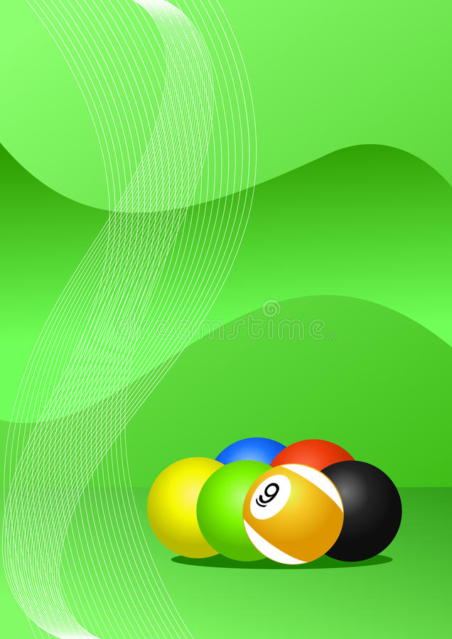 Pool balls vector illustration