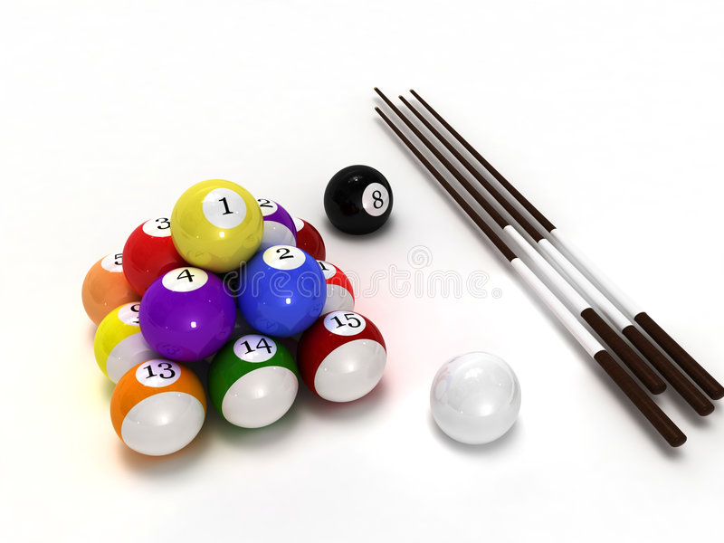 Pool Balls Royalty Free Stock Images