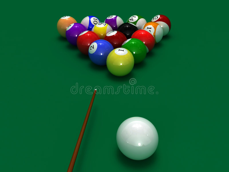 Download Pool balls stock illustration. Image of billiard, entertainment - 6028443