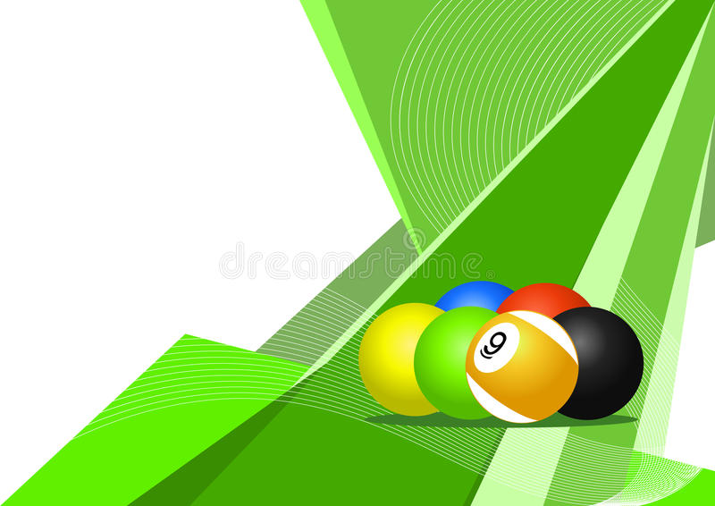 Pool balls, abstract design vector illustration