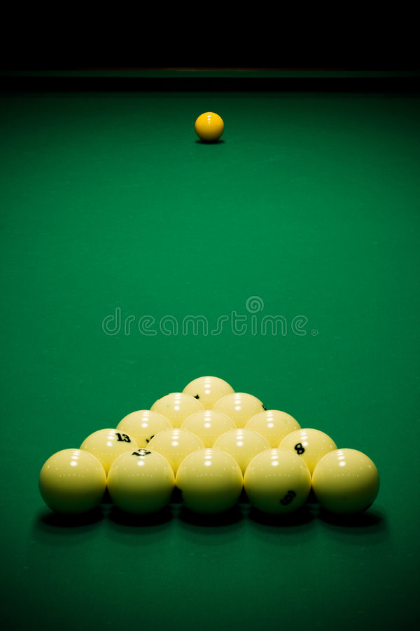 Download Pool Balls And Cue Stock Image - Image: 4890181