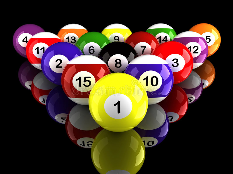 Download Pool Balls Triangle With Ground Reflection Stock Images - Image: 1964514