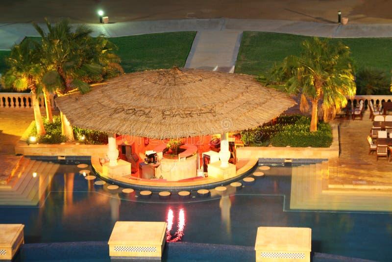 Pool bar. At tropical resort royalty free stock photo