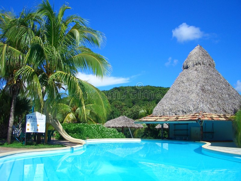 Pool Bar Cuba stock photos