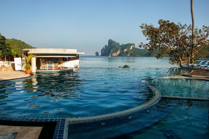 Pool bij Ao Loh Dalum strand, Phi Phi Don Island, Krabi-Provincie, royalty-vrije stock foto