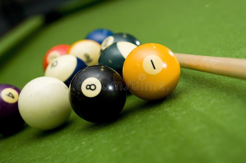 Pool - biljart royalty-vrije stock afbeeldingen