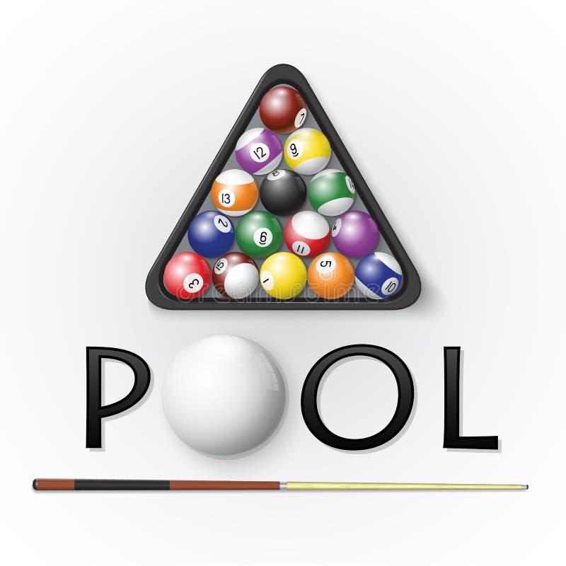Pool billiards background stock illustration