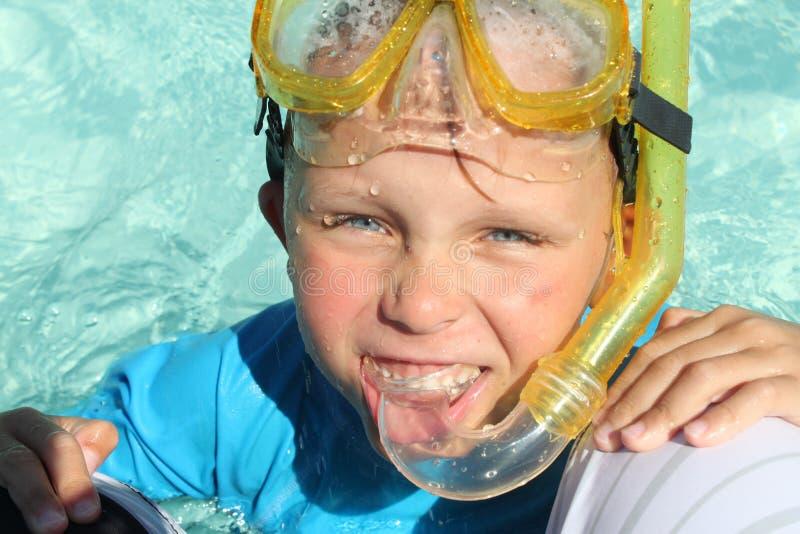 Download Pool Boy2 stock photo. Image of children, snorkel, summer - 15219896