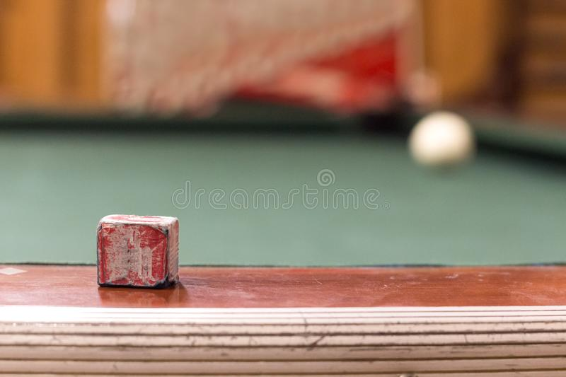 A Pool Chalk On The Side Of A Pool Table Stock Photo Image Of - Retro pool table