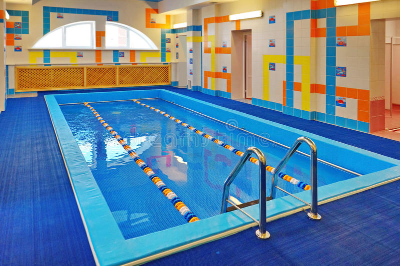 The pool for children - training in swimming. royalty free stock images