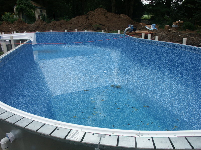Pool construction royalty free stock image