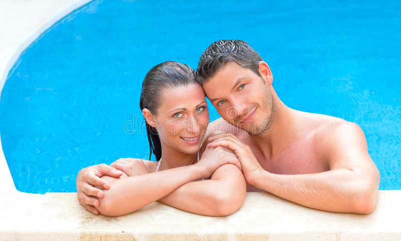 Download Pool couple stock image. Image of leisure, handsome, healthy - 10627057