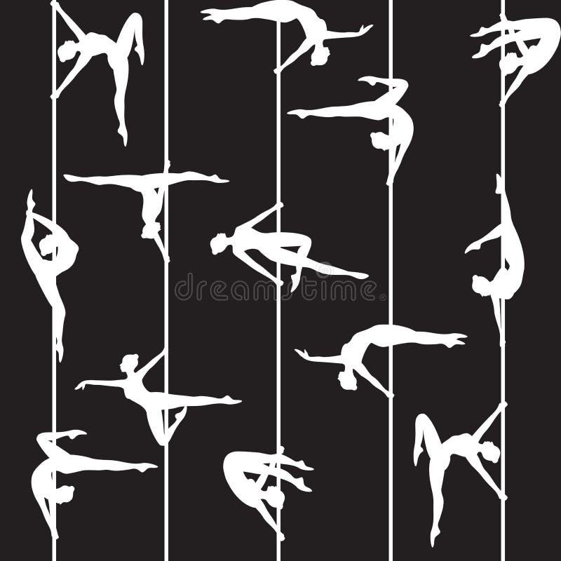 Pool-danser vector illustratie