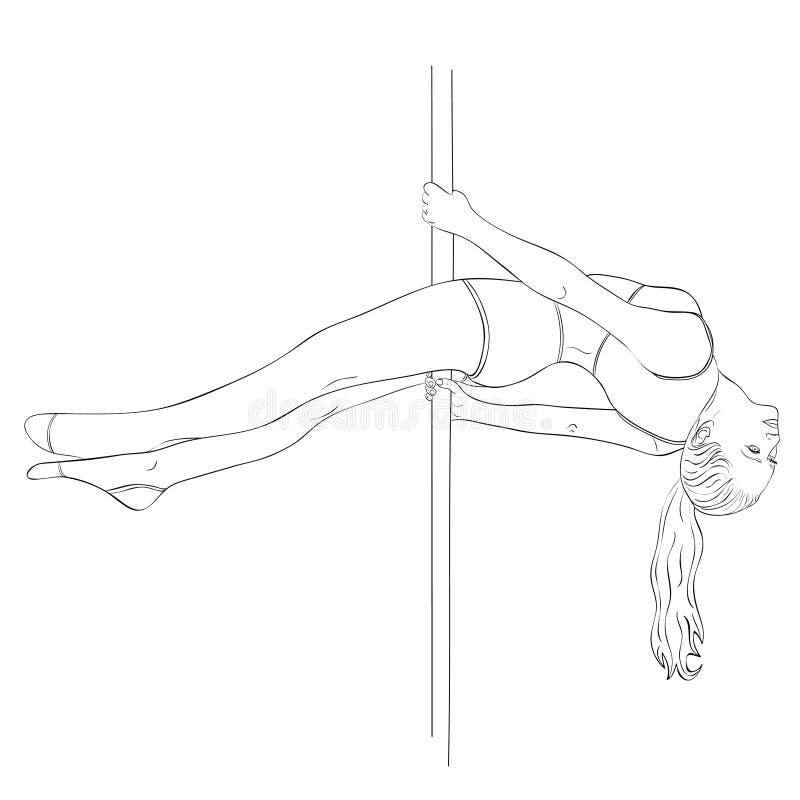 Pool-dansersvrouw vector illustratie