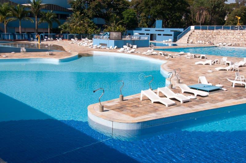 Pool In De Vrije Tijdsclub Stock Fotografie