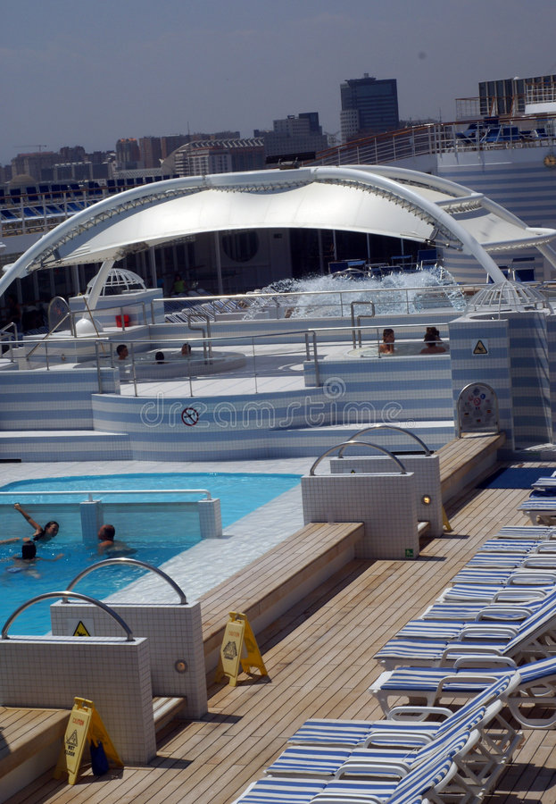 Pool deck cruise royalty free stock image