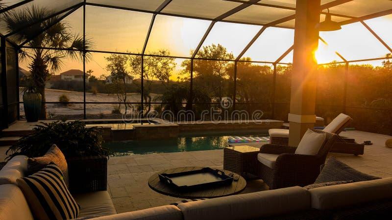 Pool Deck royalty free stock photos