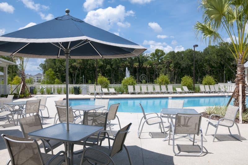 Download Pool Deck stock image. Image of tree, summer, water, pool - 41750641