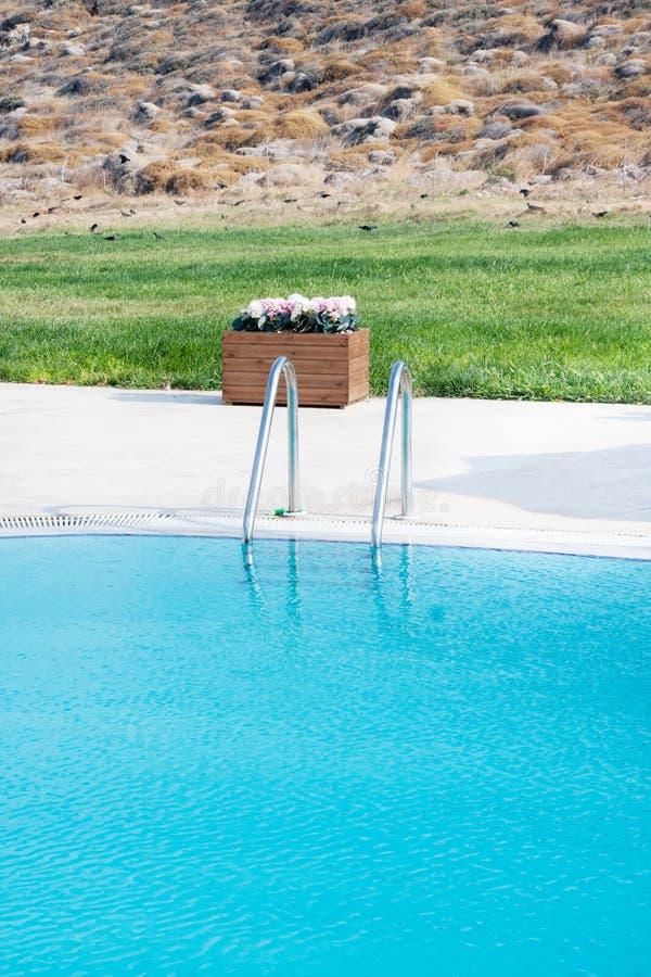 Pool detail stock photo