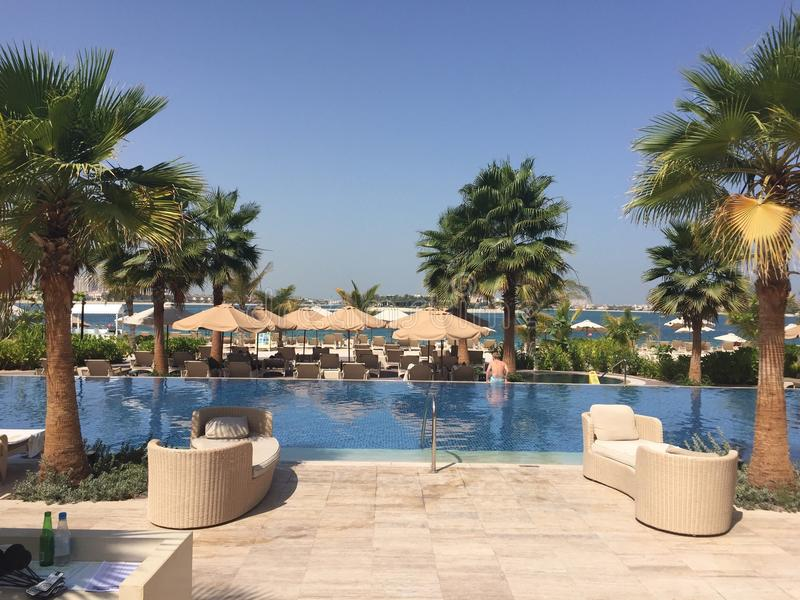 Pool Dubai stock photography