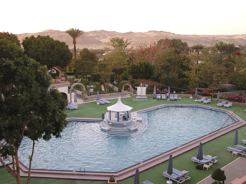 Pool - Egypt, Africa royalty free stock images
