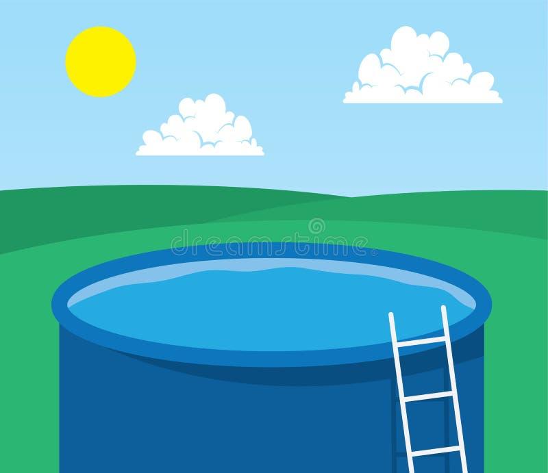 Download Pool Empty stock vector. Image of vector, recreation - 32158984