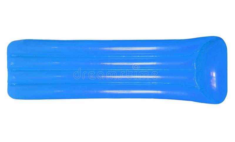 Pool-Flossmatratze des blauen Himmels Farblokalisierte aufblasbare sich hin- und herbewegende O lizenzfreie stockbilder