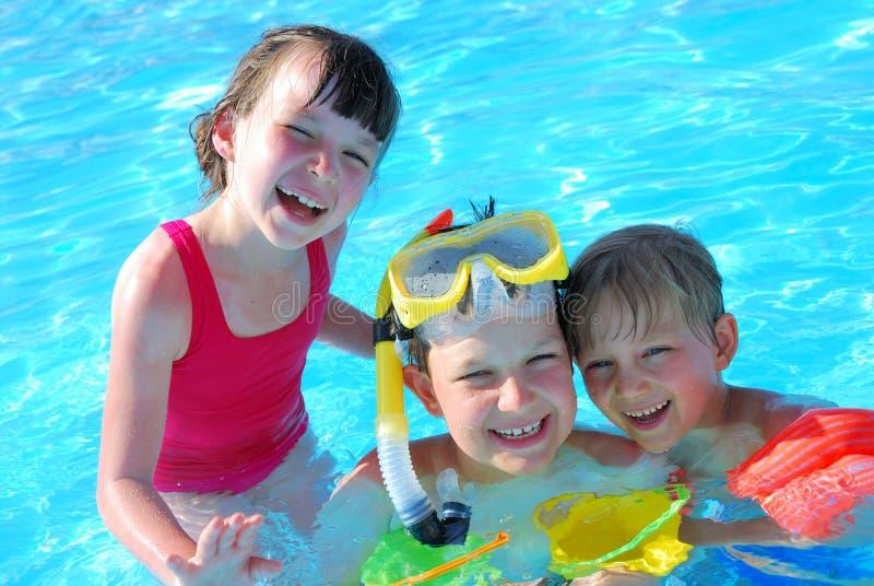 Pool fun stock photography