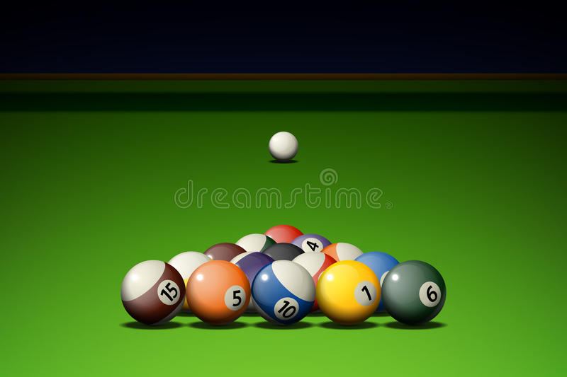 Download Pool Game stock vector. Illustration of billiards, play - 26478280