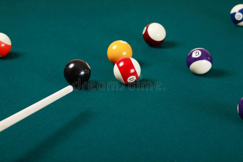 Pool game stock photos