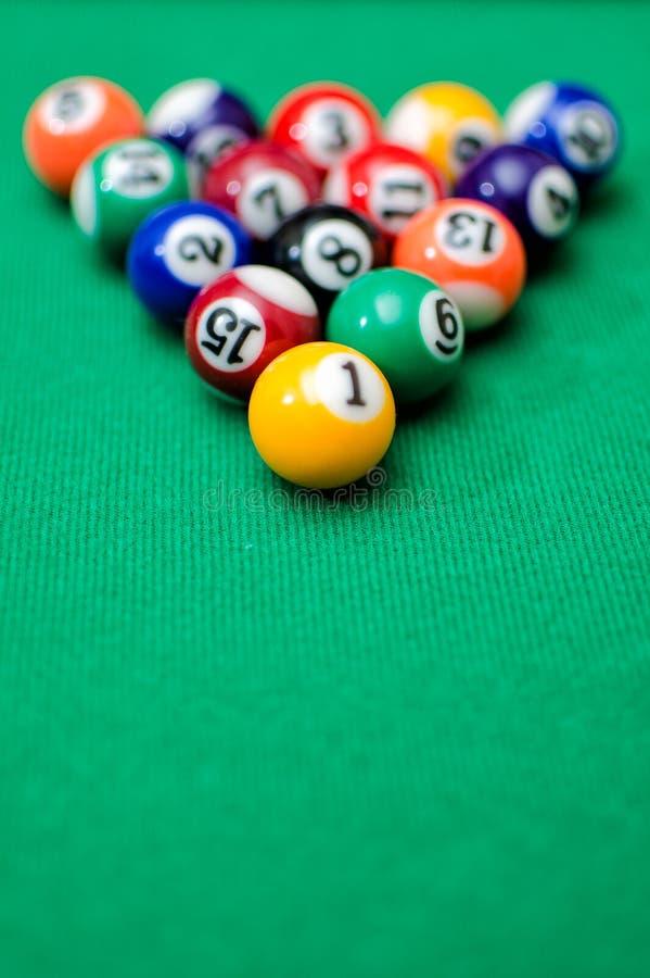 Download Pool game balls stock photo. Image of felt, green, billiard - 28625384