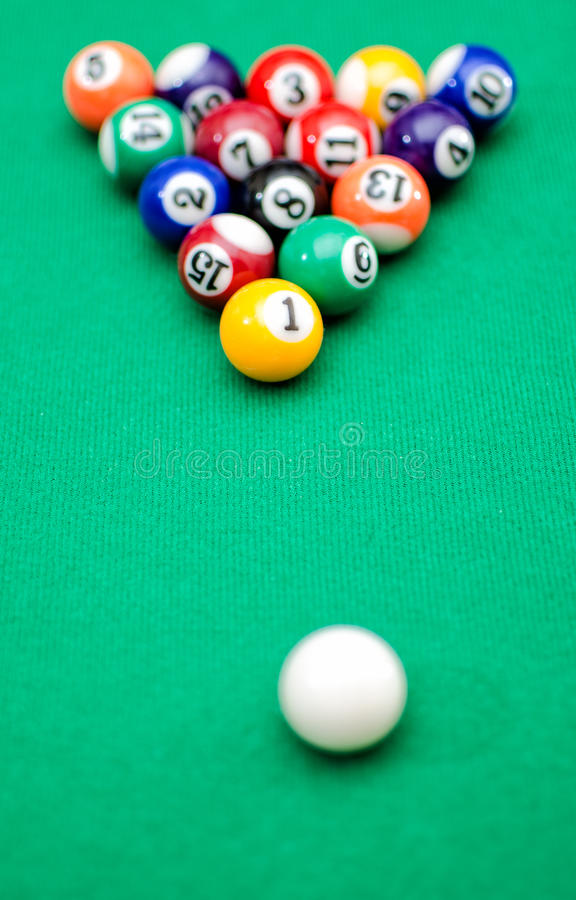 Download Pool game balls stock image. Image of club, colors, play - 28625395