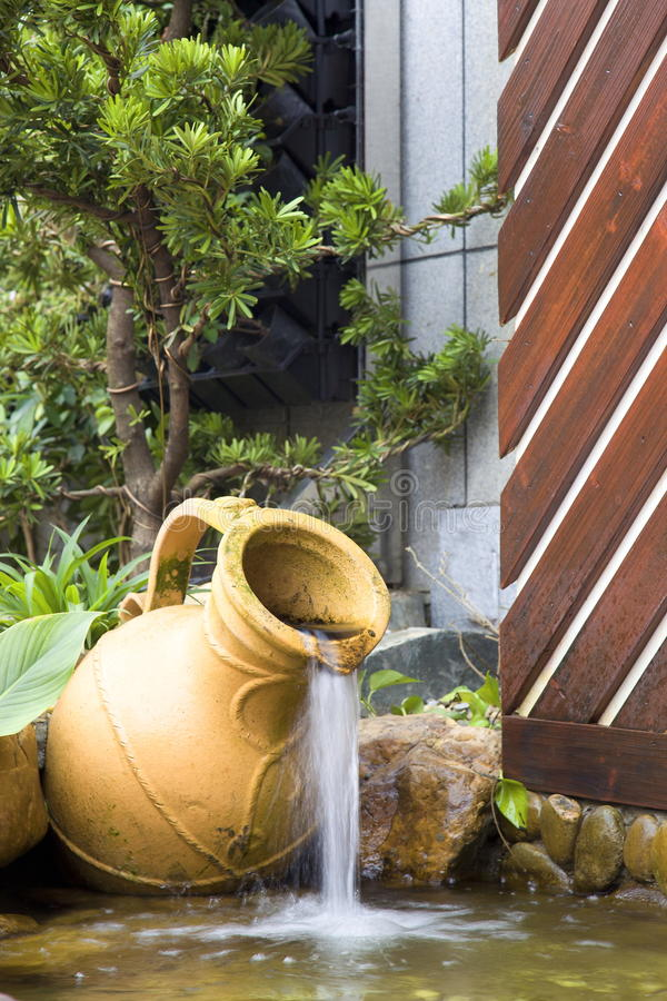 Download Pool in garden stock image. Image of waterfall, green - 25240307